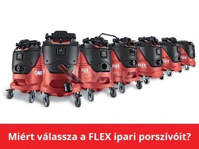 Miért válassza a FLEX ipari porszívóit?
